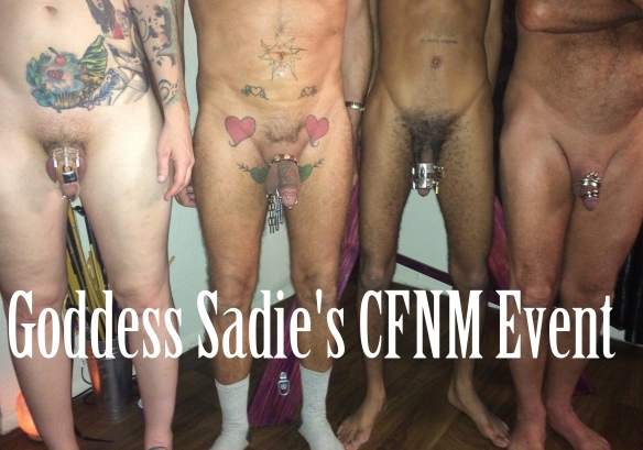 Simply Clothed female nude male party agree